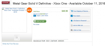 Dell's Listing Leaks Metal Gear Solid V: Definitive Edition's Release Date 1