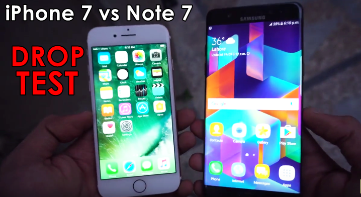 Apple iPhone 7 vs Samsung Galaxy Note 7 Drop Test – Which is More Durable?