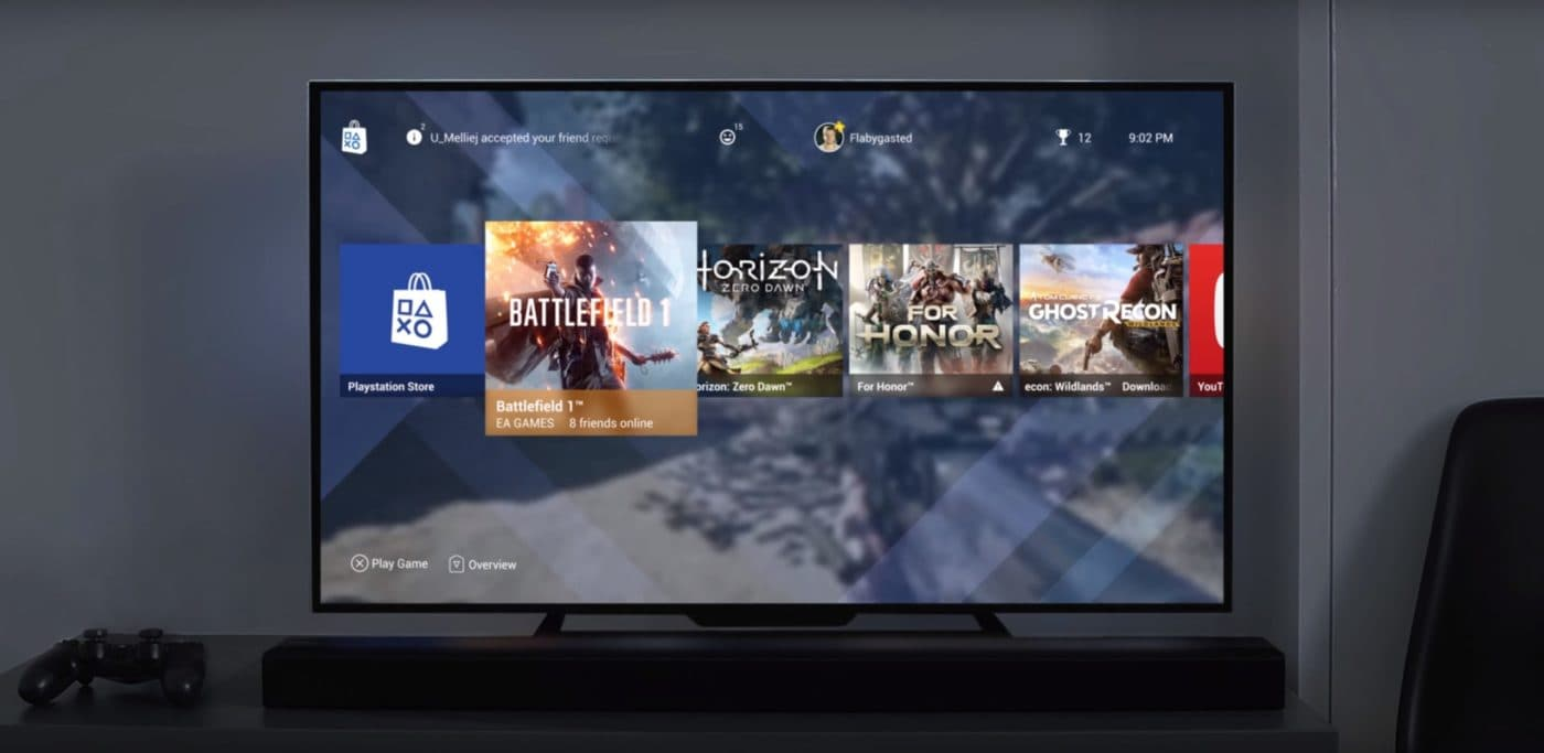 This Fan Made Concept Of PlayStation 4's Minimal UI Excites Me 1
