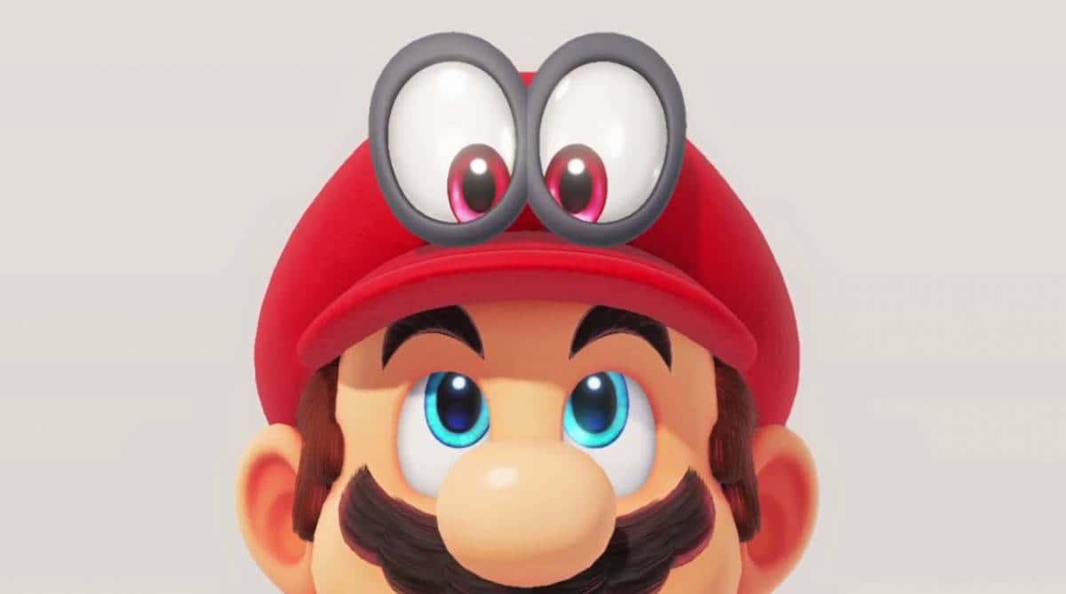 Super Mario Odyssey Red Hat Mario Looking Up