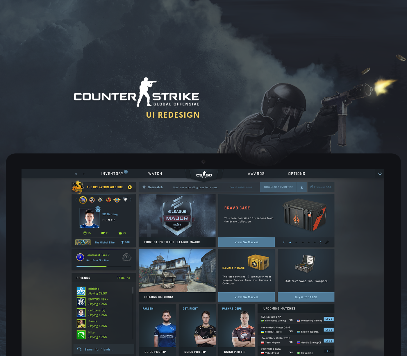 Steam Hasn't Given Much Of A Makeover To CS:GO's UI, So A UI Designer Did It 9