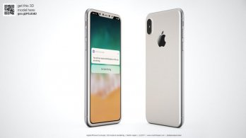 Designer Imagines The iPhone 8 In White Color With Minimized Bezels And A Wrap-Around Glass Body 4