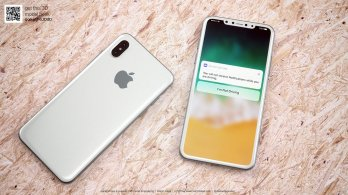 Designer Imagines The iPhone 8 In White Color With Minimized Bezels And A Wrap-Around Glass Body 2