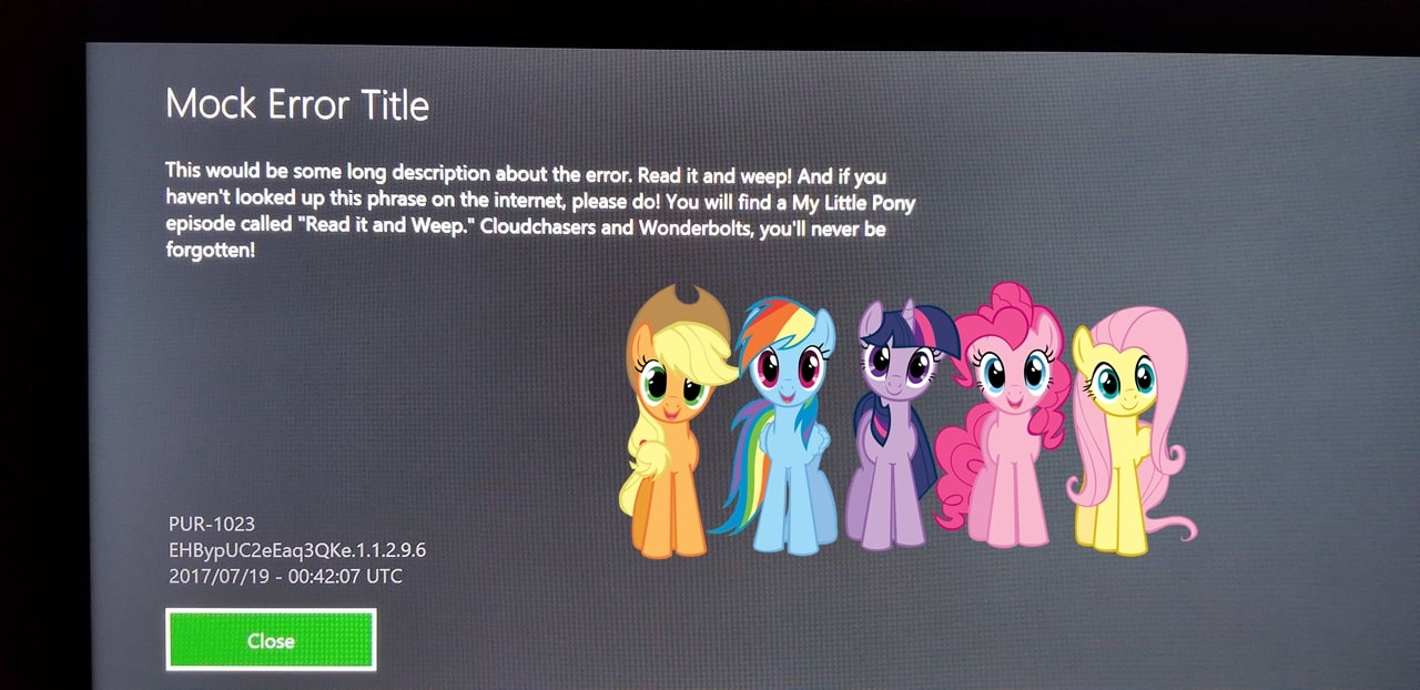 """Xbox One Users Are Getting An Error Message That Links to TV Show """"My Little Pony"""" and It's Hilarious 1"""