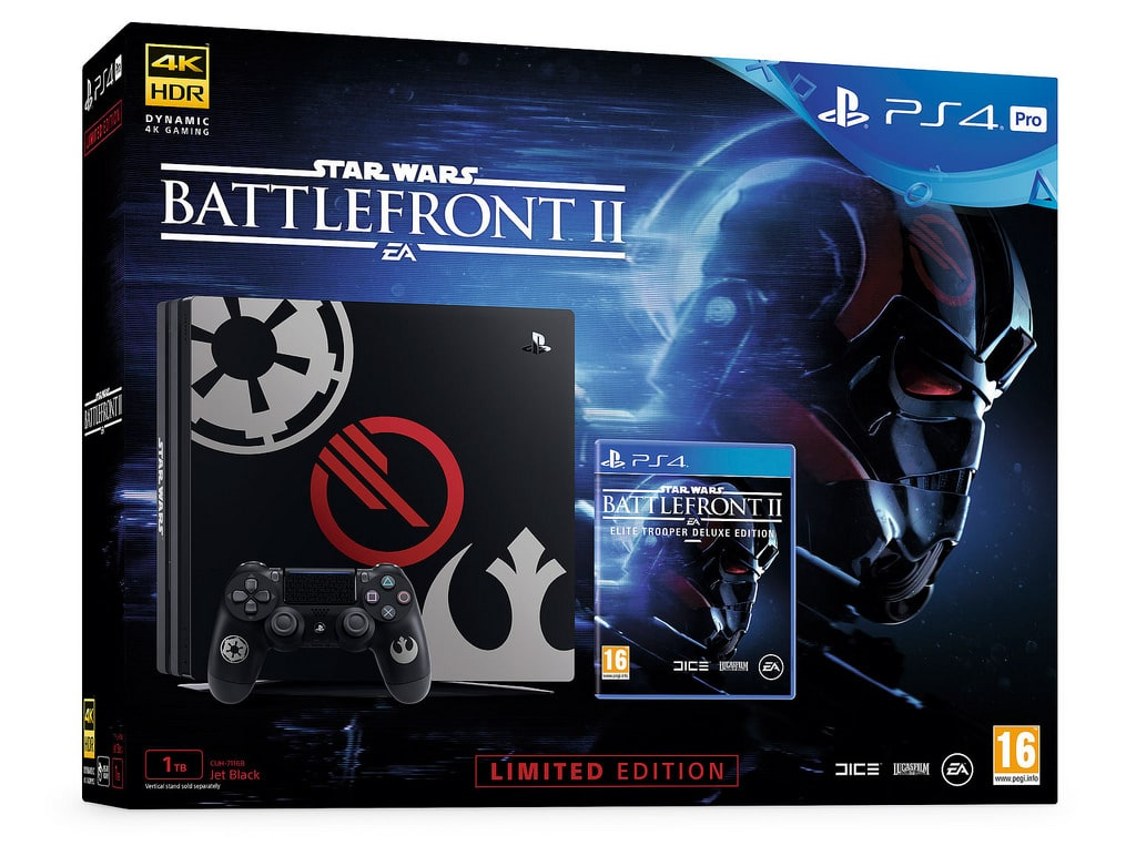 sony unveils three star wars battlefront ii playstation 4 consoles. Black Bedroom Furniture Sets. Home Design Ideas