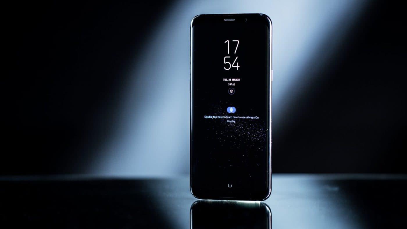Samsung Galaxy S8 Dark Background Bixby