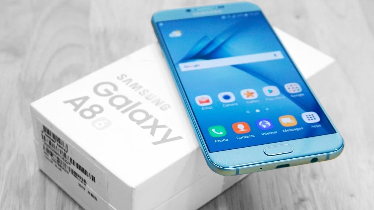 Samsung Galaxy A8 2017 Display Blue Box