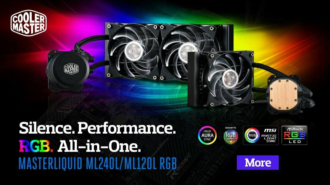 Cooler Master Launches Their ML 120 and 240 RGB For The Malaysian Market