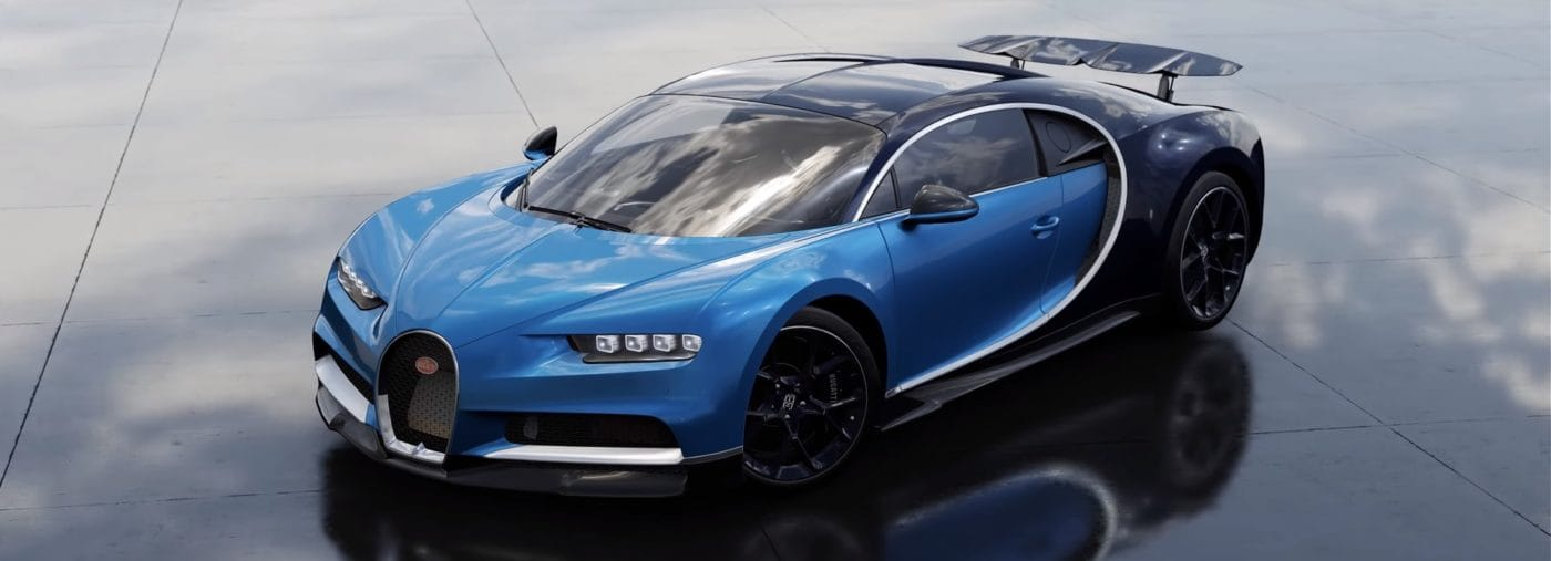 the bugatti chiron makes its way onto forza motorsport 7. Black Bedroom Furniture Sets. Home Design Ideas