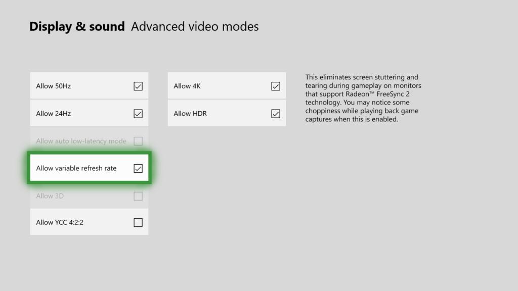 Microsoft Unveils AMD's FreeSync 2 On The Xbox One X 1