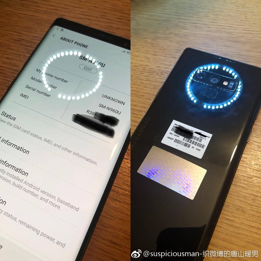 High Quality Real-Life Pictures Of Samsung's Galaxy Note 9 Leaked 1