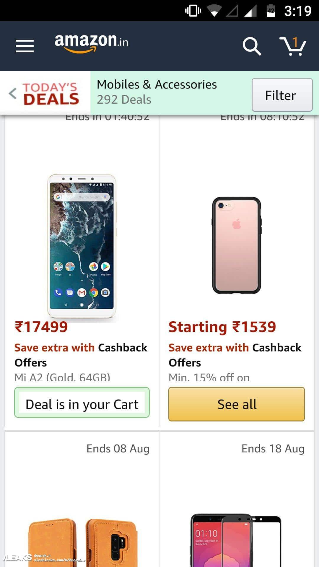 Xiaomi Mi A2 Price Reveal On Amazon India 4