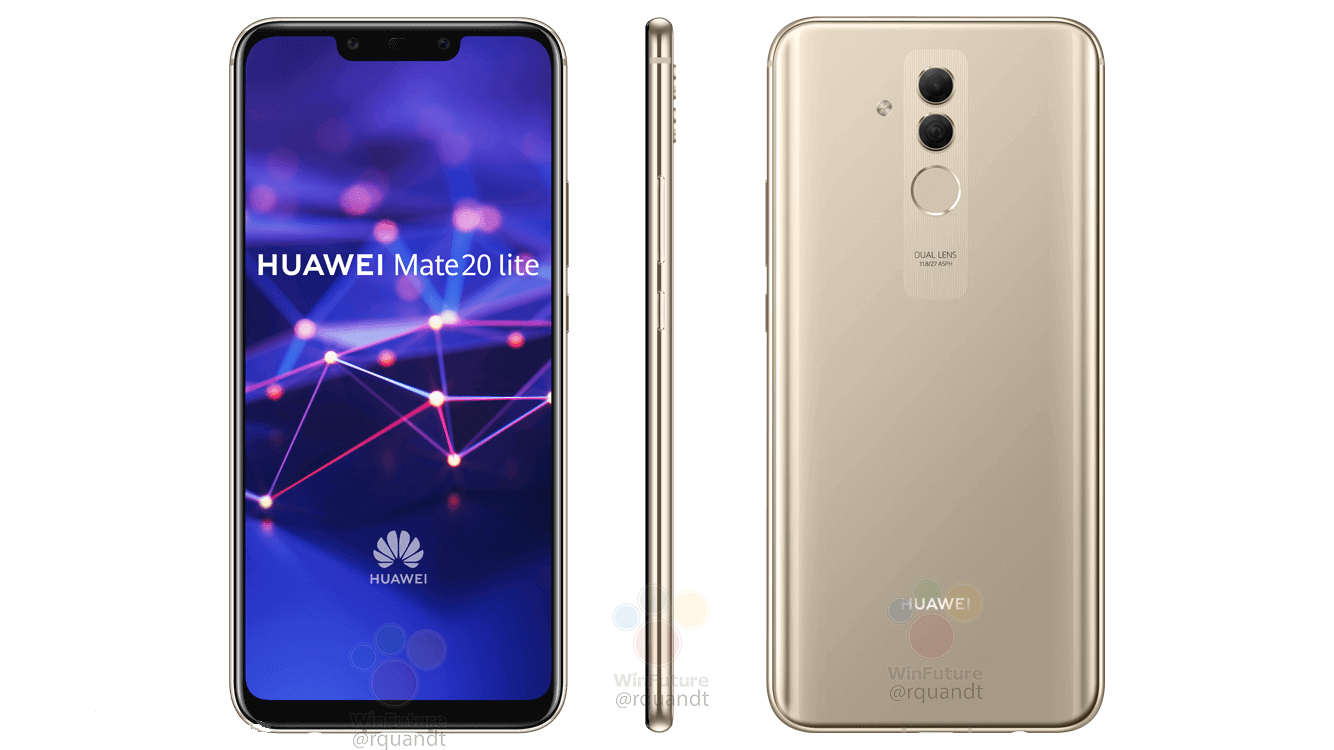 Renders For The Huawei Mate 20 Lite Discloses A Notch Up Top 4