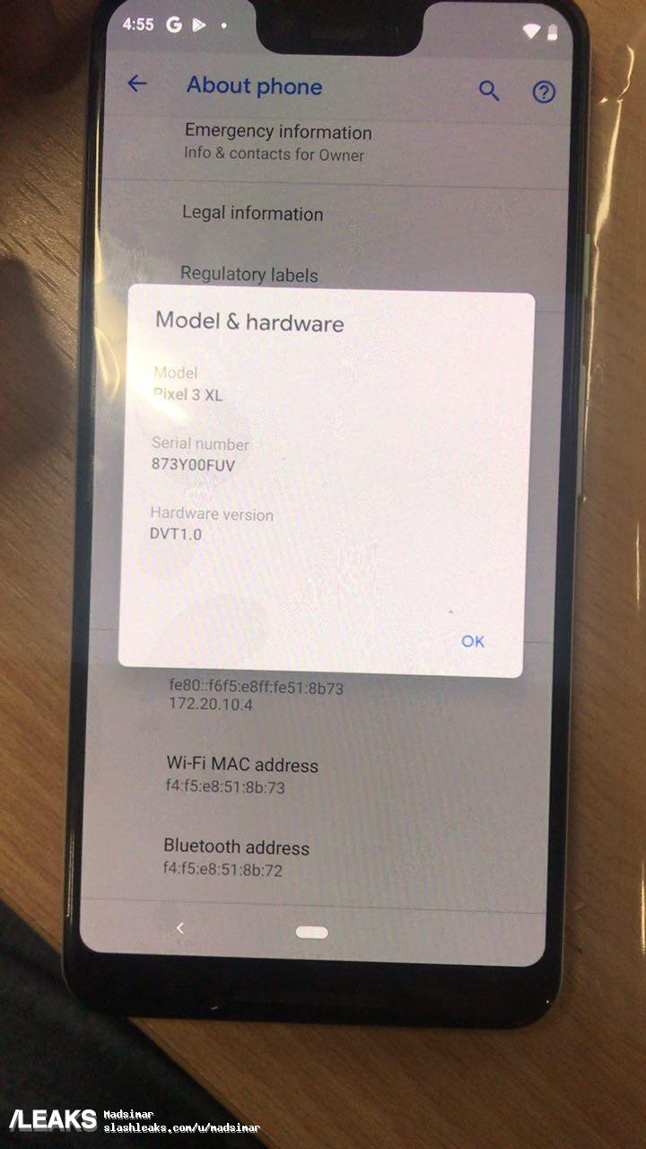 Google's Pixel 3 XL Makes Yet Another Appearance 7