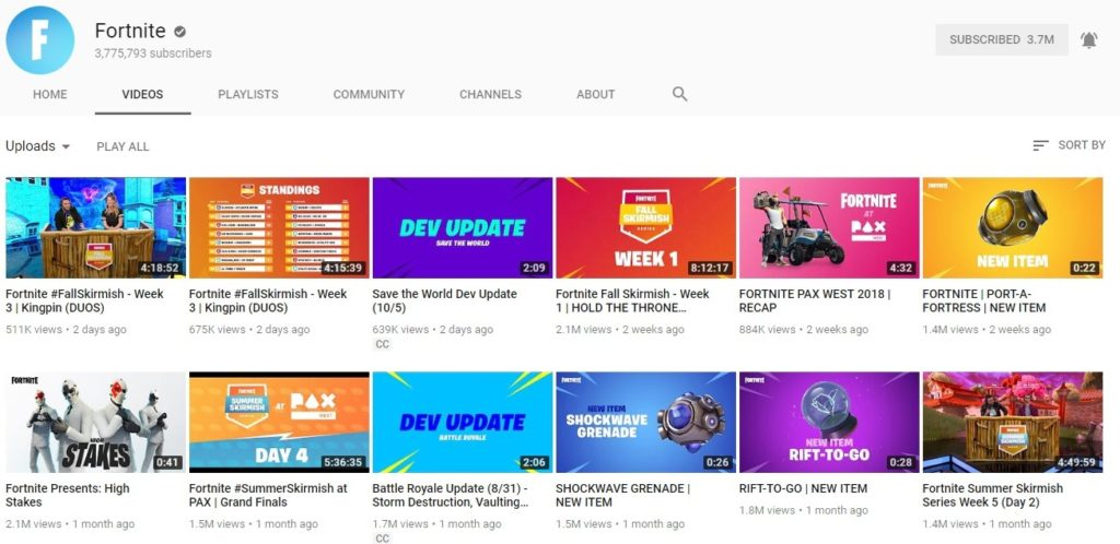 Fortnite's Official YouTube Channel Hit By Copyright Strikes - Season 6 Trailers Taken Down 7