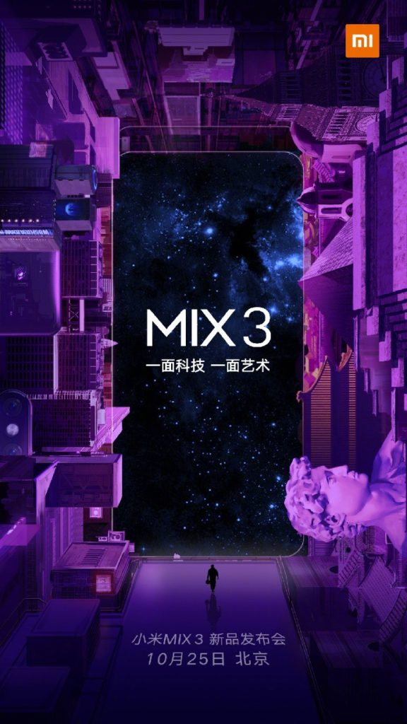Xiaomi's New Mi MiX 3 Slated To Debut On October The 25th 3