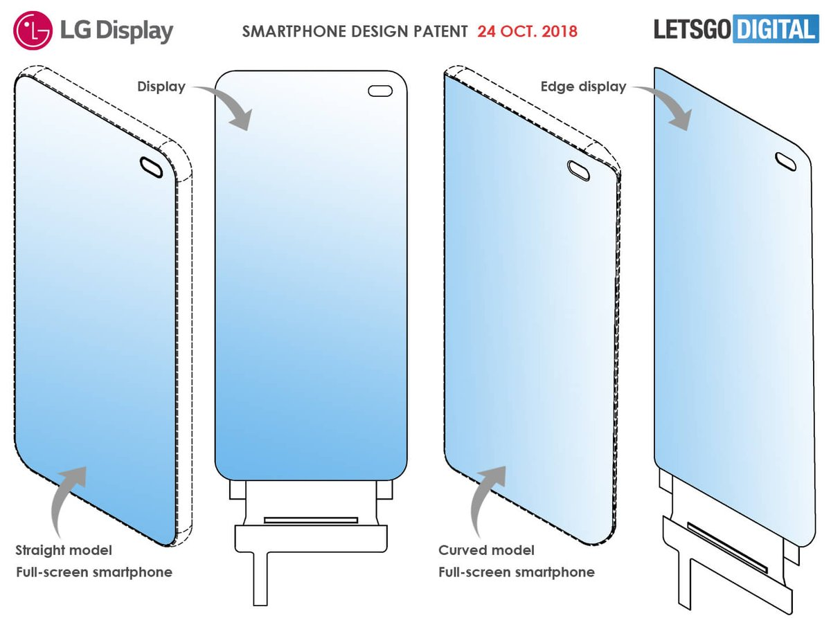 LG's Smartphone Design Patent Leaked - There's A Tiny Hole For Front Facing Cameras 4