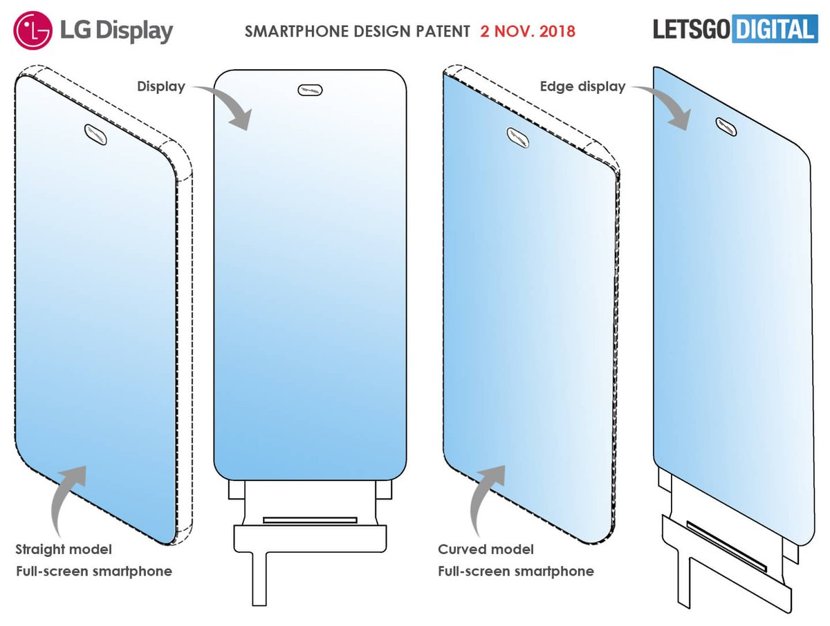 LG's Smartphone Design Patent Leaked - There's A Tiny Hole For Front Facing Cameras 3