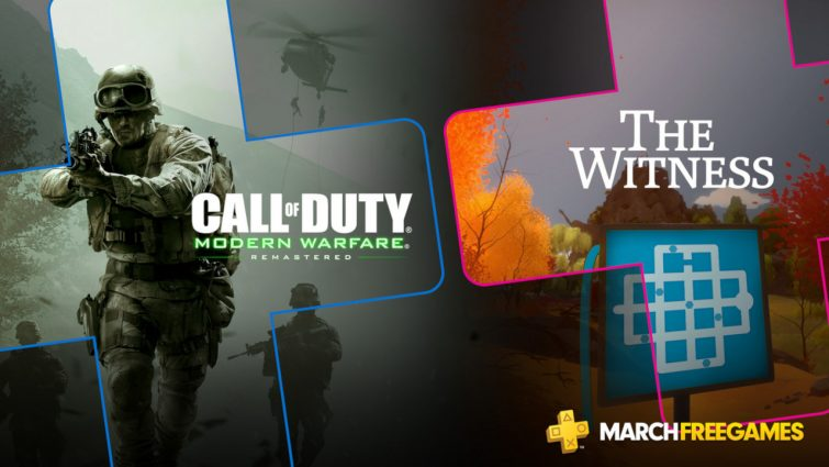 PS Plus Free Games For March Revealed - COD MW Remastered & The Witness Up For Grabs 1