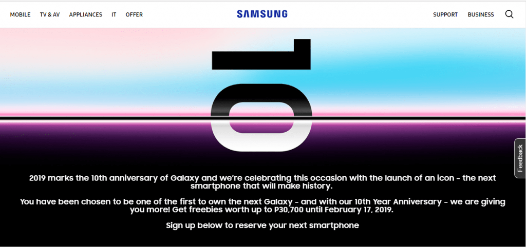 Samsung Galaxy S10 Early Pre-Order Page Surfaces On Samsung Phillipines Website 4