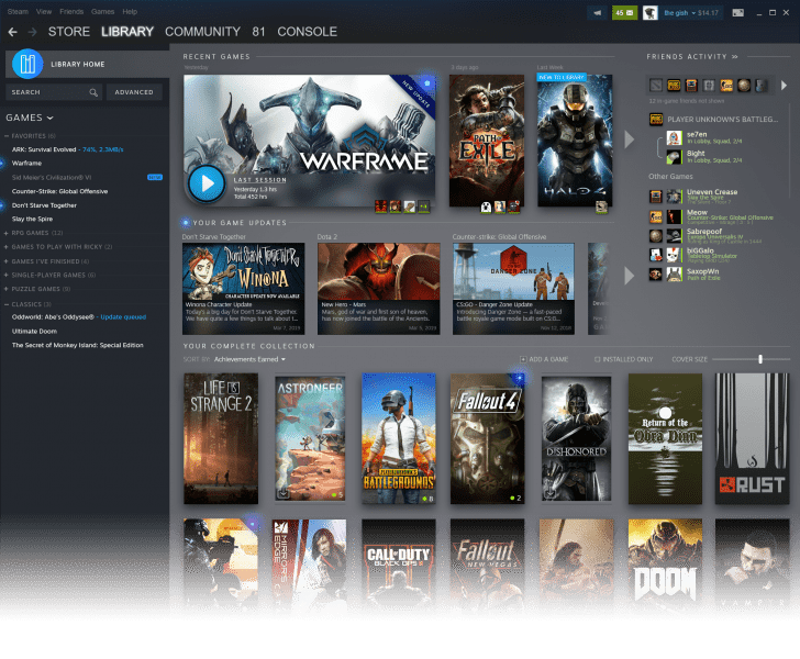 Steam To Get A Redesigned Library Page - First Look From GDC Keynote 5