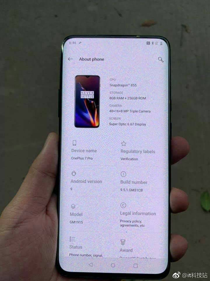 Alleged OnePlus 7 Pro Images & Specs Leaked - And It's The Ultimate Fusion Between Samsung & Xiaomi 8