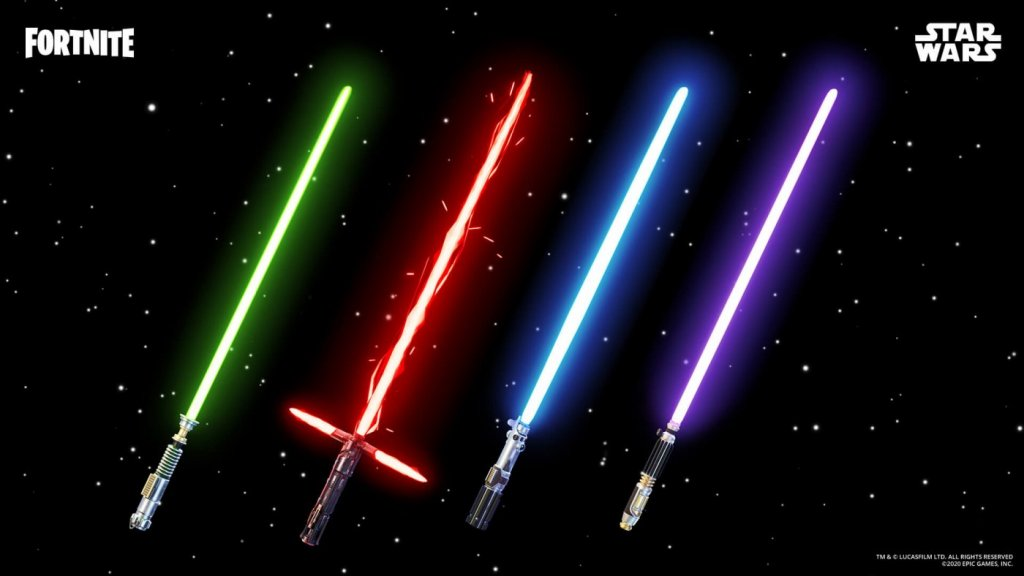 Light Sabers Make A Comeback On Fortnite, Limited Time Only 4