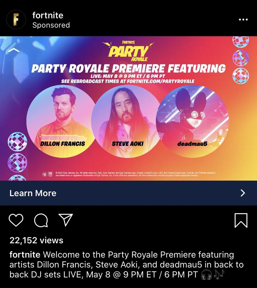 Fortnite's Party Royale Premiere Featuring Dillion Francis & More Teased 4